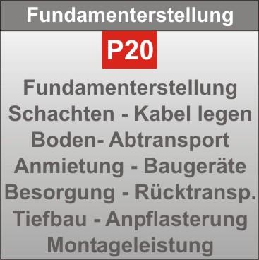 P20-Fundamenterstellung