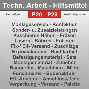 Projekt-Hilfsmittel - Strahler - Elt. - Anschluss - Montagezusatzkosten - Verpackung - Versand